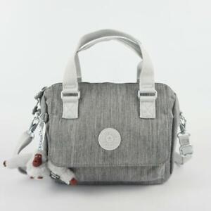 KIPLING ZEVA Nylon Small Shoulder Travel CrossBody Bag Shaded Grey