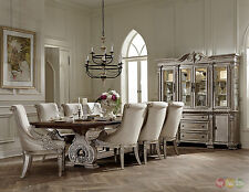 Orleans Ii White Wash Traditional 9pc Formal Dining Room Set w/ China Cabinet