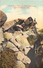 DAN'S ROCK 3,000 FEET ABOVE SEA LEVEL NEAR CUMBERLAND MARYLAND POSTCARD c. 1910