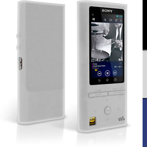 Silicone Gel Skin Case for Sony Walkman NW-ZX100 Rubber Cover + Screen Protector