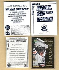 1999 UDA  Wayne Gretzky HOF 22 Kt Gold Card Box & COA NHL Karat