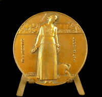 "Medal Perrette the Dairy "" le Pot of Milk Sc Jean Vernon C 1940 58mm Medal"