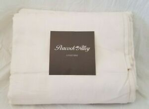 3 pc Peacock Alley Couture Scroll Ivory Queen Duvet Cover & Shams Set $655 NIP