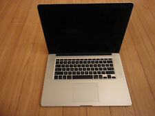 Apple MacBook Pro Retina screen A1398 15 inch 2.6 GHz Core i7, 8GB RAM For Parts