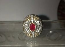 STUNNING 925 STERLING SILVER RUBY RING SIZE 6 ✅