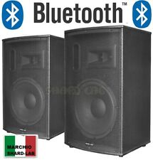 "COPPIA CASSE AMPLIFICATE ATTIVE KARAOKE IN KTV 900W 10"" BLUETOOTH + USB-SD shard"