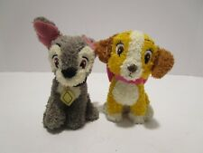 NEW Disney Lady and the Tramp Plush Animals