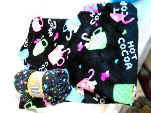 2 PAIR Fleece PAJAMA Pants Secret Treasures Women's SZ M ( 8 - 10 ) COCOA & STAR