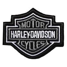 HD Patch Bar & Shield MD Grau Harley Davidson Aufnäher Badge Kutte