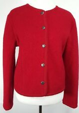 TALBOTS Size 8 100% Wool Button Down Jacket Fancy Silver Color Buttons
