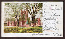 THE OLD LIBRARY~YALE COLLEGE~POSTCARD 1904~PRIVATE MAILING  Detroit Photographic