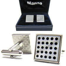 New Men's Cufflinks Cuff Link Square Mother Of Pearl Wedding Formal Prom #13