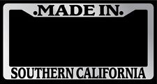 """Chrome License Plate Frame """"Made in Southern California"""" Auto Accessory Novelty"""