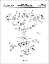 Delta 36-220 10 Inch Compound Miter Saw Parts Manual