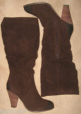 """New Look Brown (Completed) Suede look 4"""" high heel Boots (NEW)-size 8 £34.99"""