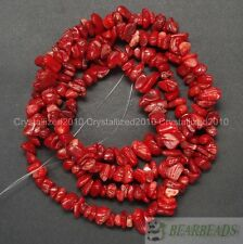 Natural Gemstone 5-8mm Chip Beads Lapis Hematite Turquoise Malachite Coral 35""