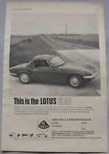 1963 Lotus Elan Original advert No.1