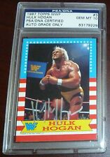 Hulk Hogan Signed 1987 Topps WWF Card PSA/DNA COA Gem Mint 10 Autograph WWE #3