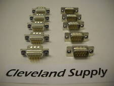9-PIN D-SHELL CONNECTOR (SET OF 10 PIECES) NEW!!!