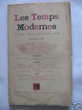 1947 : Les temps modernes N° 26  Novembre 1947