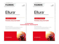 2 x Flordis Ellura Cystitis Urinary Tract Health Support Cranberry = 30 Capsules