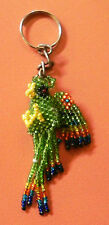 Mexican Huichol Art Macaw Bird Animal Beaded Key Chain Hand Made Colorful 13