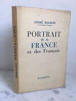 Andre Maurois Retrato de la France Y Las en Francés Hachette 1955