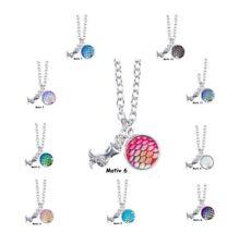 Halskette Meerjungfrau Nixe Regenbogenfarben Fischschuppen schimmernd 10 Motive
