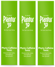 3X PLANTUR 39 Phyto-Caffeine Leave-In TONIC for Women +2X FREE 20ml samples