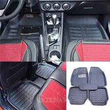 5Pc Universal Black Car Floor Mats FloorLiner Front&Rear Carpet All Weather Mat