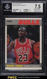 1987 Fleer Basketball Michael Jordan #59 BGS 7.5 NRMT+