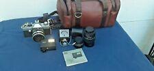Vintage Hanimex parktica L 35mm film camera Slr With Accessories