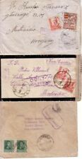 SPAIN - 1937/38 THREE CENSORED COVERS TO URUGUAY/ARGENTINA ONE WITH PATRIOTIC ST