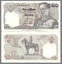 Thailand P98, 10 Baht, King Rama IX / King Rama V the Great on horse, 1995, UNC