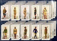 More details for players military uniforms of the british empire overseas - 1938 set