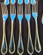 5 fourchettes de tables Christofle Spatours 21,5cm