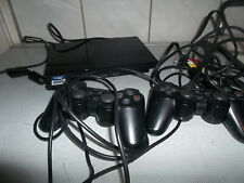 PS2 Konsole Slim Schwarz Sony Playstation 2 mit zwei Controllern
