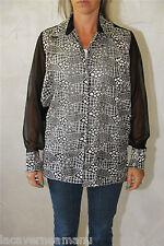 jolie chemise tunique noire transparente femme VICTOR H taille 38