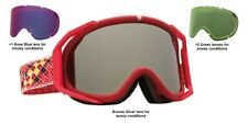 NEW Electric Rig Matte Red Silver Mirror ski snowboard goggles +3 lenses Ret$240