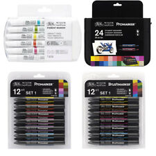 Winsor and Newton Pro/Brush Pigment Markers - various sets available