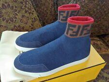 Fendi Men's Logo Wool Sock Sneakers, Size 7, 100% Authentic