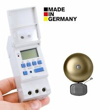 Euro Din Type Digital School bell Timer Made in Germany-Weekly-Daily-Pulse-Count