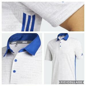 New With Tags!!  Adidas 365 3 stripe graphic polo Shirt - Size Large