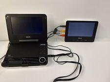 Philips Portable Dual Screen DVD Player PET708/37 Travel W/remote  W/Case-eb9