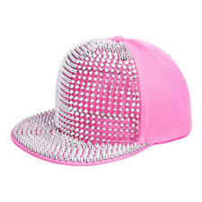Blue Banana Unisex Pink/Silver Spike Studded Cap Snapback Hat