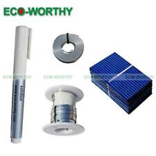 DIY Solar Panel - 20pcs 39x26mm Solar Cells Kit w/Tab Wire, Bus Wire & Flux Pen