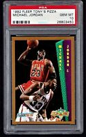 PSA 10 MICHAEL JORDAN 1992-93 Fleer Tony's Pizza #NNO Bulls HOF RARE GEM MINT