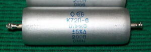 Lot of 4 pcs K72P-6 0.1uF 200V Russian Military Teflon Capacitors New