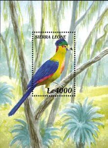 MODERN GEMS - Sierra Leone - Rwenzori Turaco Bird - Souvenir Sheet - MNH