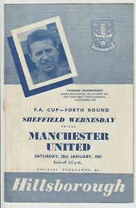 Sheffield Wednesday V Manchester United FA Cup 4th Round Programme 1960/61